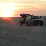 Range Rover on the Makgadikgadi